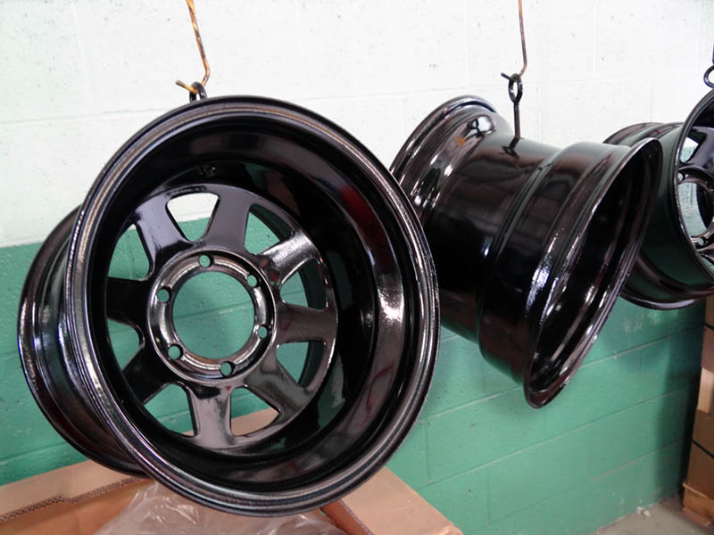 Powder Coated automobile parts