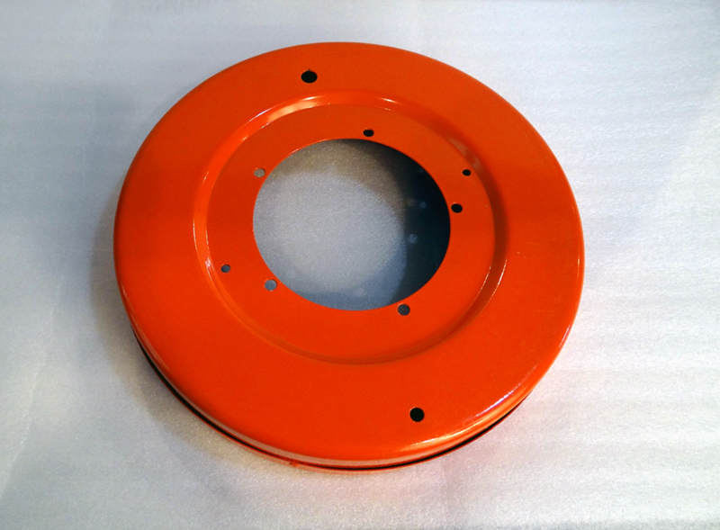 Orange powder coated ring