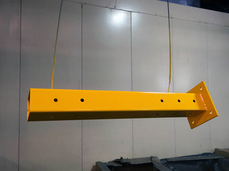 Yellow Powder Coated piece