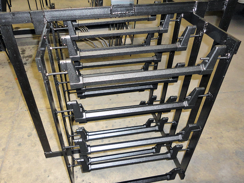 Metal bars with e-coating