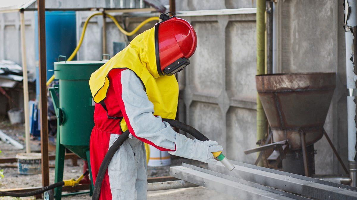 Sandblasting, surface preparation for powder coating